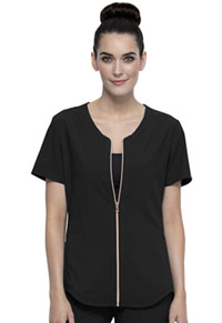 Statement Zip Front Top (CK875-BLK) (CK875-BLK)