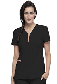 Cherokee Y-Neck Top Black (CK876-BLK)