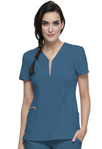 Cherokee Y-Neck Top Caribbean Blue (CK876-CAR)