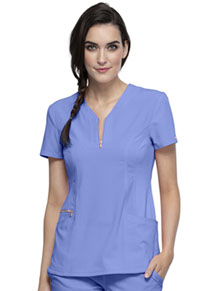Cherokee Y-Neck Top Ciel Blue (CK876-CIE)