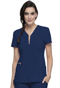 Cherokee Y-Neck Top Navy (CK876-NAV)