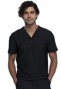 Cherokee Form Men's Tuckable V-Neck Top (CK885-BLK) (CK885-BLK)