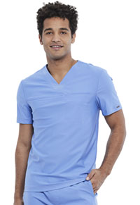 Cherokee Men's Tuckable V-Neck Top Ciel Blue (CK885-CIE)