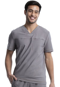 Cherokee Men's Tuckable V-Neck Top Pebble (CK885-PBBL)