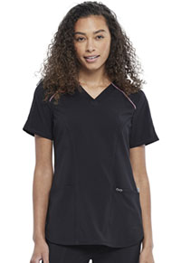 Cherokee V-Neck Top Black (CK891A-BAPS)