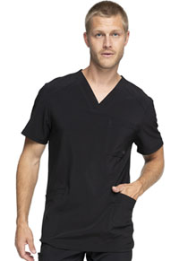 Cherokee Men's V-Neck Top Black (CK900A-BAPS)