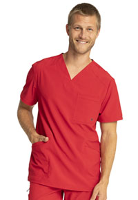 Cherokee Men's V-Neck Top Red (CK900A-RED)
