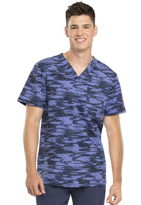 Men's V-Neck Top Down The Line (CK902-DWLN)