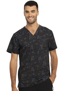 Cherokee Men's V-Neck Top Glowing Grid (CK902-GWGD)