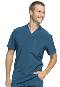 Cherokee Men's Tuckable V-Neck Top Caribbean Blue (CK910A-CAPS)