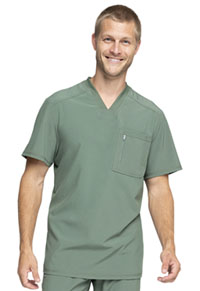Cherokee Men's Tuckable V-Neck Top Olive (CK910A-OLPS)