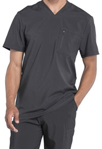 Cherokee Men's Tuckable V-Neck Top Pewter (CK910A-PWPS)