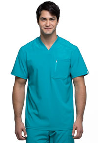 Cherokee Men's Tuckable V-Neck Top Teal Blue (CK910A-TLPS)