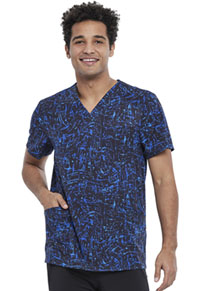 Cherokee Men's V-Neck Top From Scratch Royal (CK920-FMSR)