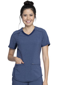 Cherokee V-Neck Top Heather Navy (CK925A-HTNA)