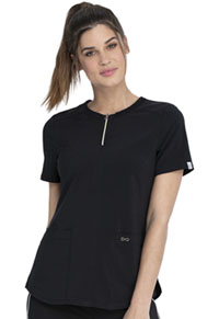 Cherokee Round Neck Top Black (CK926A-BAPS)