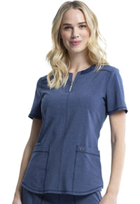 Cherokee Round Neck Top Heather Navy (CK926A-HTNA)