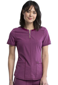 Cherokee Round Neck Top Heather Wine (CK926A-HTWI)