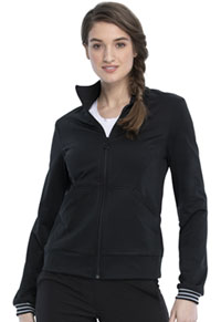 Cherokee Zip Front Knit Jacket Black (CKK361-BLK)