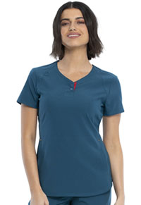 Cherokee V-Neck Top Caribbean Blue (CKK815-CAR)