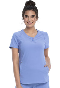 Cherokee V-Neck Top Ciel Blue (CKK815-CIE)