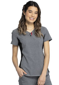 Cherokee V-Neck Top Heather Grey (CKK815-HTGR)
