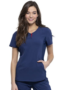 Cherokee V-Neck Top Navy (CKK815-NAV)