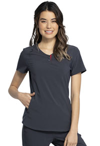 Cherokee V-Neck Top Pewter (CKK815-PWT)