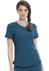 Cherokee V-Neck Top Caribbean Blue (CKK817-CAR)