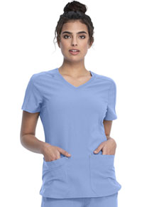 Cherokee V-Neck Top Ciel Blue (CKK817-CIE)