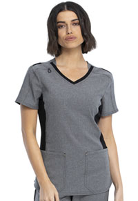 Cherokee V-Neck Top Heather Grey (CKK817-HTGR)