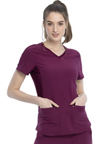 Cherokee V-Neck Top Wine (CKK817-WIN)