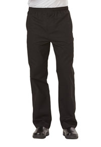 Dickies Chef Men's Traditional Baggy Zipper Fly Pant Black (DC14-BLK)