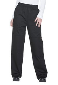 Dickies Chef Unisex Double Knee Baggy Elastic Pant Black (DC15-BLK)