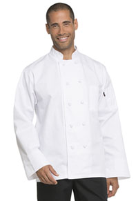 Dickies Chef Unisex Classic Knot Button Chef Coat White (DC43-WHT)