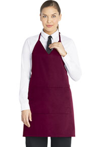 Dickies Chef V-Neck Tuxedo Apron with Snaps Burgundy (DC53-BURG)