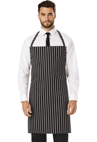 Dickies Chef Set Strap, No Pocket Bib Apron Black/White Stripe (DC54-CKSP)