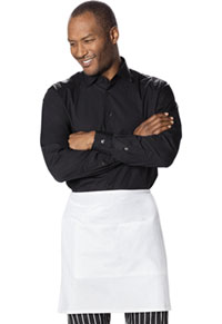 Dickies Chef Half Bistro Waist Apron with 2 Pockets White (DC57BC06-WHT)