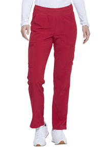Every Day EDS Essentials Natural Rise Tapered Leg Pull-On Pant (DK005-RED) (DK005-RED)