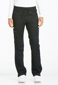 Mid Rise Straight Leg Drawstring Pant (DK106P-BLK)