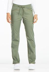 Mid Rise Straight Leg Drawstring Pant (DK106P-OLV)