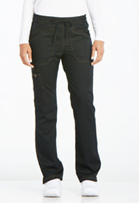 Mid Rise Straight Leg Drawstring Pant (DK106T-BLK)