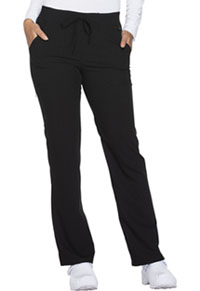 Mid Rise Straight Leg Drawstring Pant (DK112P-BLKZ)