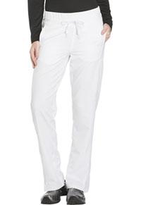 Mid Rise Straight Leg Drawstring Pant (DK130P-WHT)