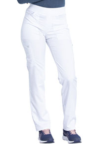 Dickies Mid Rise Straight Leg Pull-on Pant White (DK135T-WHT)
