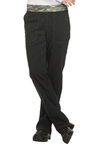 Mid Rise Tapered Leg Pull-on Pant (DK140T-BLK)