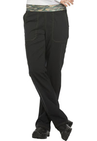 Essence Mid Rise Tapered Leg Pull-on Pant (DK140-BLK) (DK140-BLK)