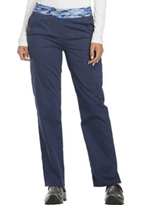 Essence Mid Rise Tapered Leg Pull-on Pant (DK140-NAV) (DK140-NAV)