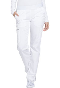 Essence Mid Rise Tapered Leg Pull-on Pant (DK140-WHT) (DK140-WHT)