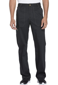 Essence Men's Drawstring Zip Fly Pant (DK160-BLK) (DK160-BLK)